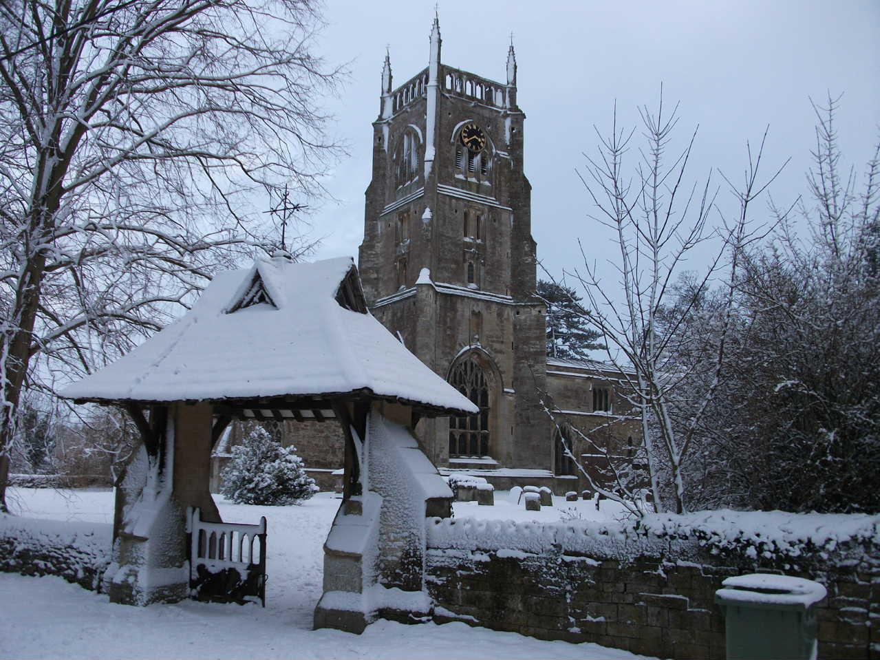 Kempsford Church in Winter